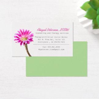 Cartão De Visitas Praça cor-de-rosa na flor, LCSW