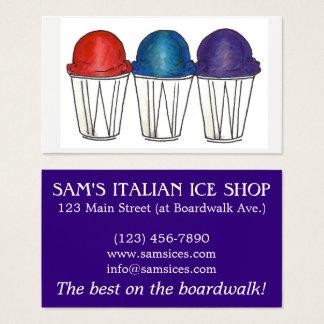 Cartão De Visitas Praia barbeada de Snocone da comida do gelo de Sno