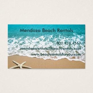 Cartão De Visitas Praia com a estrela do mar na areia