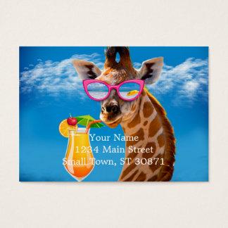 Cartão De Visitas Praia do girafa - girafa engraçado