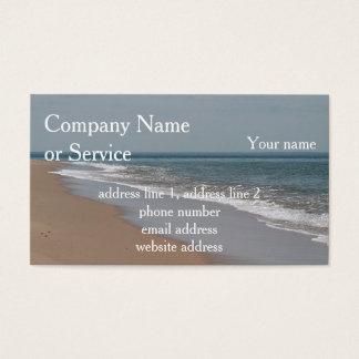 Cartão De Visitas Praia e ondas do oceano