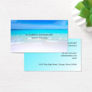 Cartão De Visitas Praia tropical com um mar de turquesa