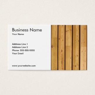 Cartão De Visitas Prancha de madeira clássica simples