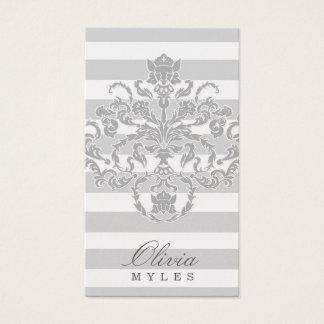 Cartão De Visitas prata cinzenta da milha 311-Classic náutica