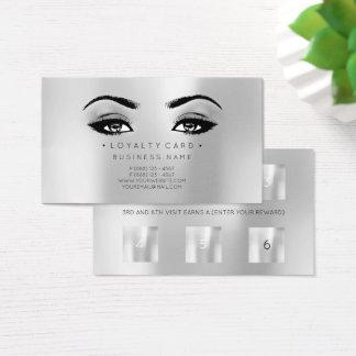 Cartão De Visitas Prata da composição da beleza do cliente do