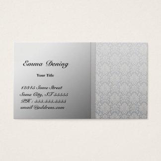 Cartão De Visitas Prata elegante do damasco