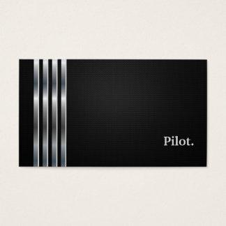 Cartão De Visitas Prata preta profissional piloto