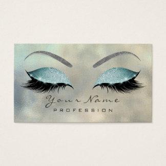 Cartão De Visitas Prata Tiffany do brilho dos chicotes dos olhos da