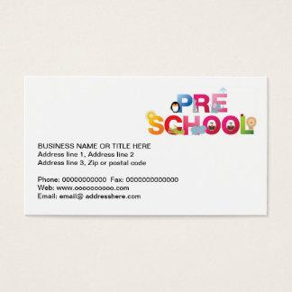 Cartão De Visitas pre palavra da escola em letras do divertimento