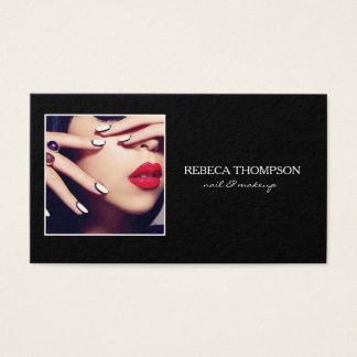 Cartão De Visitas Prego do salão de beleza & artista de Profesional