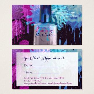 Cartão De Visitas Pregue a nomeação colorida do splatter do técnico