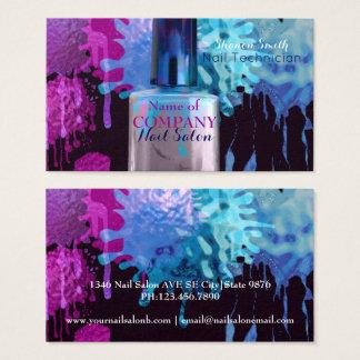 Cartão De Visitas Pregue o design colorido do splatter do técnico