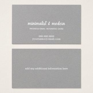 Cartão De Visitas prêmio cinzento minimalista do prof. elegante e