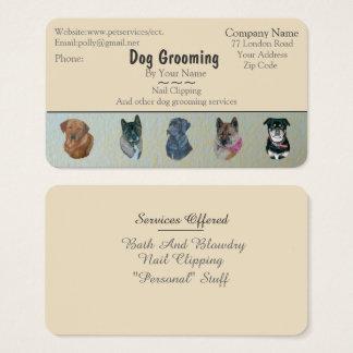 Cartão De Visitas preparação do cão e negócio de serviços dos