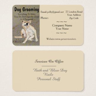 Cartão De Visitas preparação do cão e nomeação dos serviços dos