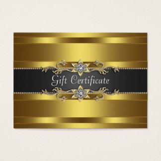 Cartão De Visitas Presente preto Certficate do negócio do ouro do