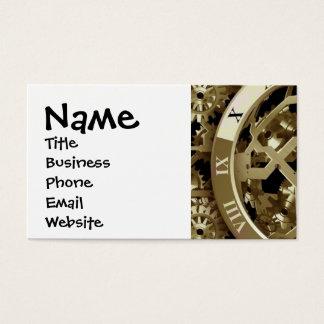 Cartão De Visitas Presentes mecânicos dourados de Steampunk dos