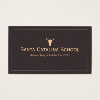 Cartão De Visitas Presentes ocidentais do vaqueiro do crânio de Bull