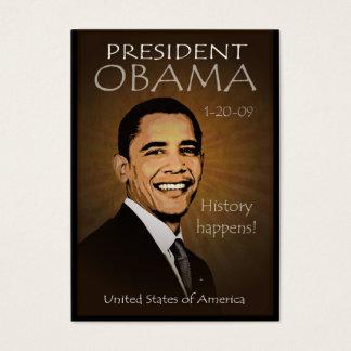 Cartão De Visitas Presidente Obama - calendário do bolso do Grunge