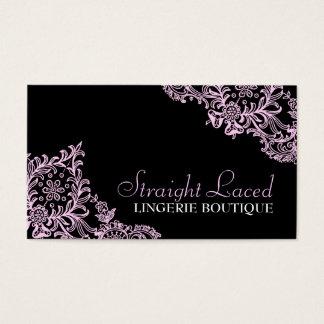 Cartão De Visitas Preto 311 cor-de-rosa atado hetero