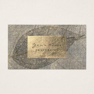 Cartão De Visitas Preto botânico orgânico urbano do Sepia dourado da