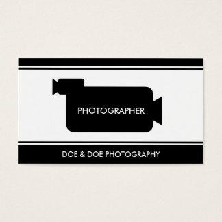 Cartão De Visitas Preto/branco da fotografia da cineasta do
