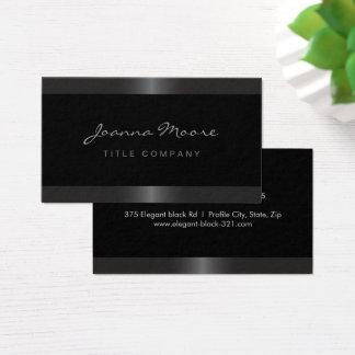 Cartão De Visitas Preto cinzento da beira do cetim à moda elegante
