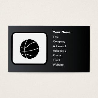 Cartão De Visitas Preto customizável do logotipo do basquetebol