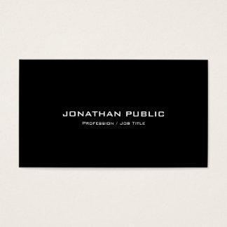Cartão De Visitas Preto e branco à moda liso moderno profissional