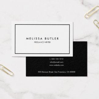 Cartão De Visitas Preto e branco elegante profissional minimalista