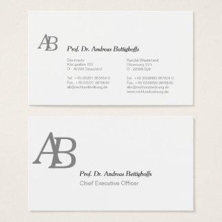 Cartão De Visitas Preto e branco incorporado