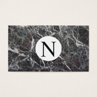 Cartão De Visitas Preto e branco marmoreado