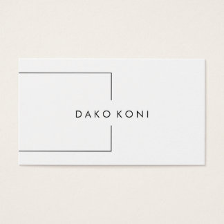 Cartão De Visitas Preto e branco minimalista elegante