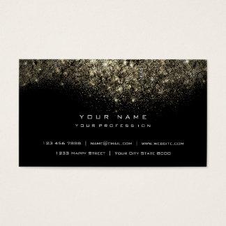 Cartão De Visitas Preto Glam do brilho Sparkly do ouro do Sepia