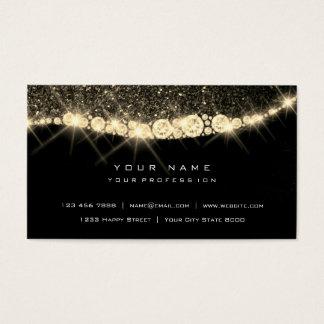 Cartão De Visitas Preto Glam do brilho Sparkly mais foxier do