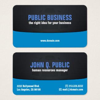 Cartão De Visitas Preto incorporado e azul