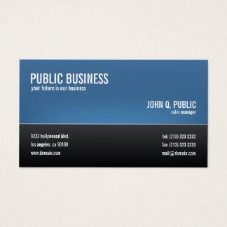 Cartão De Visitas Preto incorporado moderno e azul