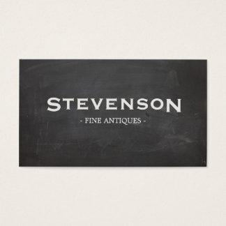 Cartão De Visitas Preto legal rústico da tipografia corajosa do