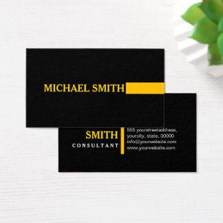 Cartão De Visitas Preto liso ambarino moderno elegante profissional