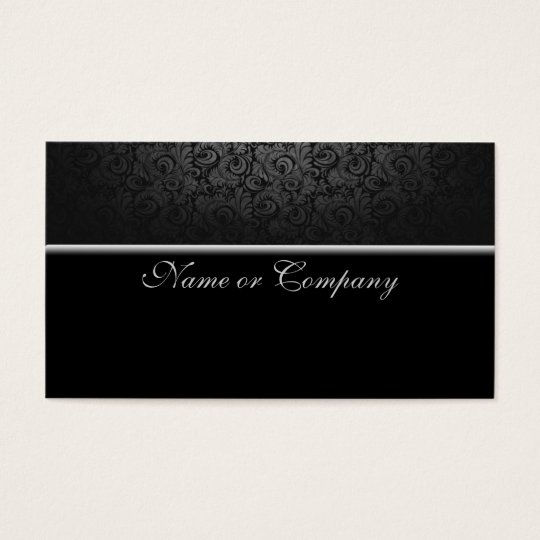 Cartão De Visitas Preto luxo