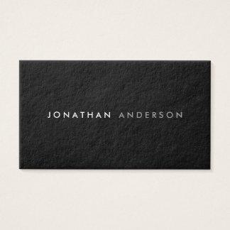 Cartão De Visitas Preto mínimo moderno