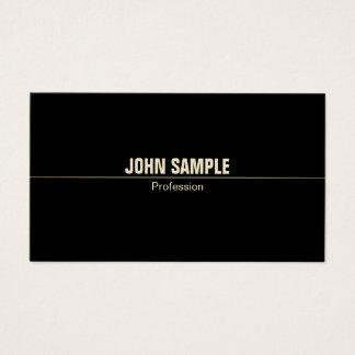Cartão De Visitas Preto profissional moderno liso minimalista