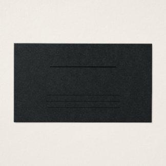 Cartão De Visitas Preto profissional moderno liso simples