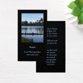Cartão De Visitas Preto vertical do retrato da fotografia