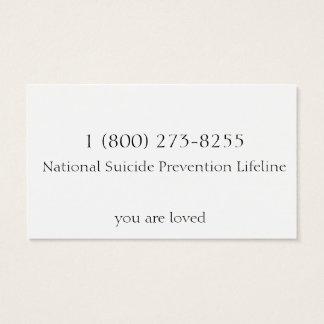 Cartão De Visitas Prevenção do suicídio