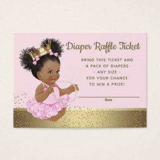 Cartão De Visitas Princesa cor-de-rosa Fralda Raffle Bilhete do ouro