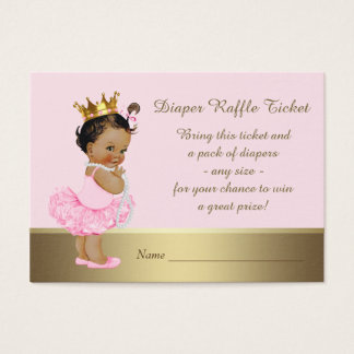Cartão De Visitas Princesa étnica Fralda Raffle Bilhete