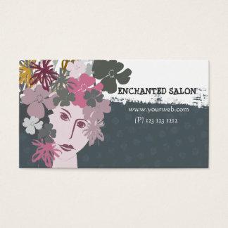 Cartão De Visitas Princesa floral Elegante Fêmea Blooming Salto