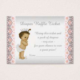 Cartão De Visitas Princesa Fralda Raffle Bilhete do pêssego