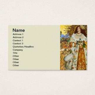Cartão De Visitas Princesa mágica fantástica da astrologia de Leo do